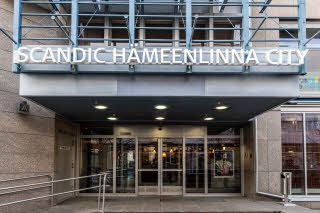 facade of scandic hameenlinna city in finland