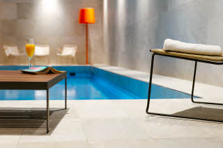 Scandic Backadal, relaxation area and pool