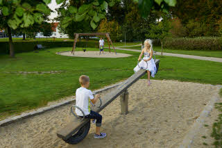 Scandic Bygholm Park, exterior, children, people, family, playground