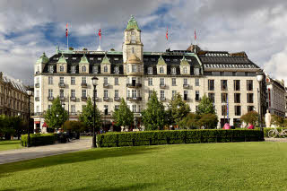 Facade of Grand Hotel by Scandic in Oslo