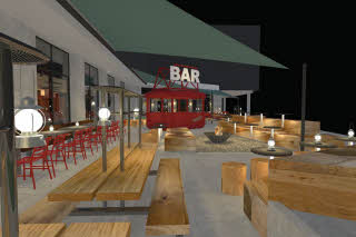 Outdoor bar and terrace (illustration)
