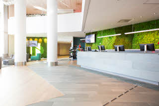Scandic Lerkendal, reception, check in, check out, shop