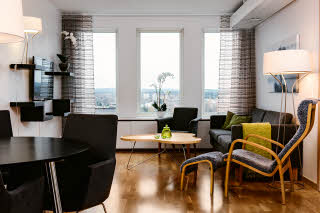 Scandic Plaza Umea, suite, floor 14, living room
