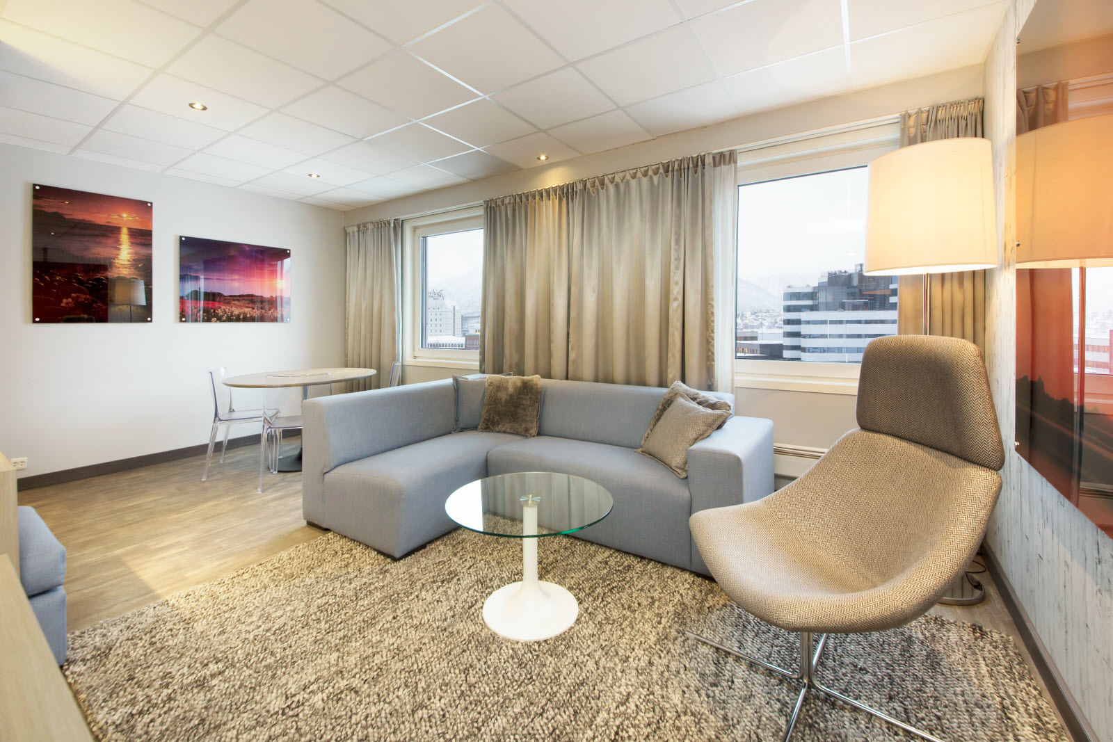 Scandic Grand Tromso, Tromso, junior suite, room 719, lounge