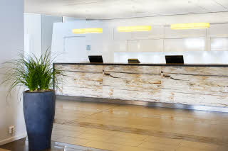 Reception, desk