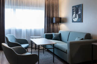 room junior suite at scandic pasila in helsinki finland