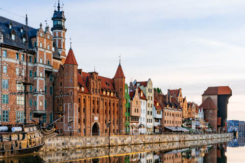 Poland, Gdansk embankment