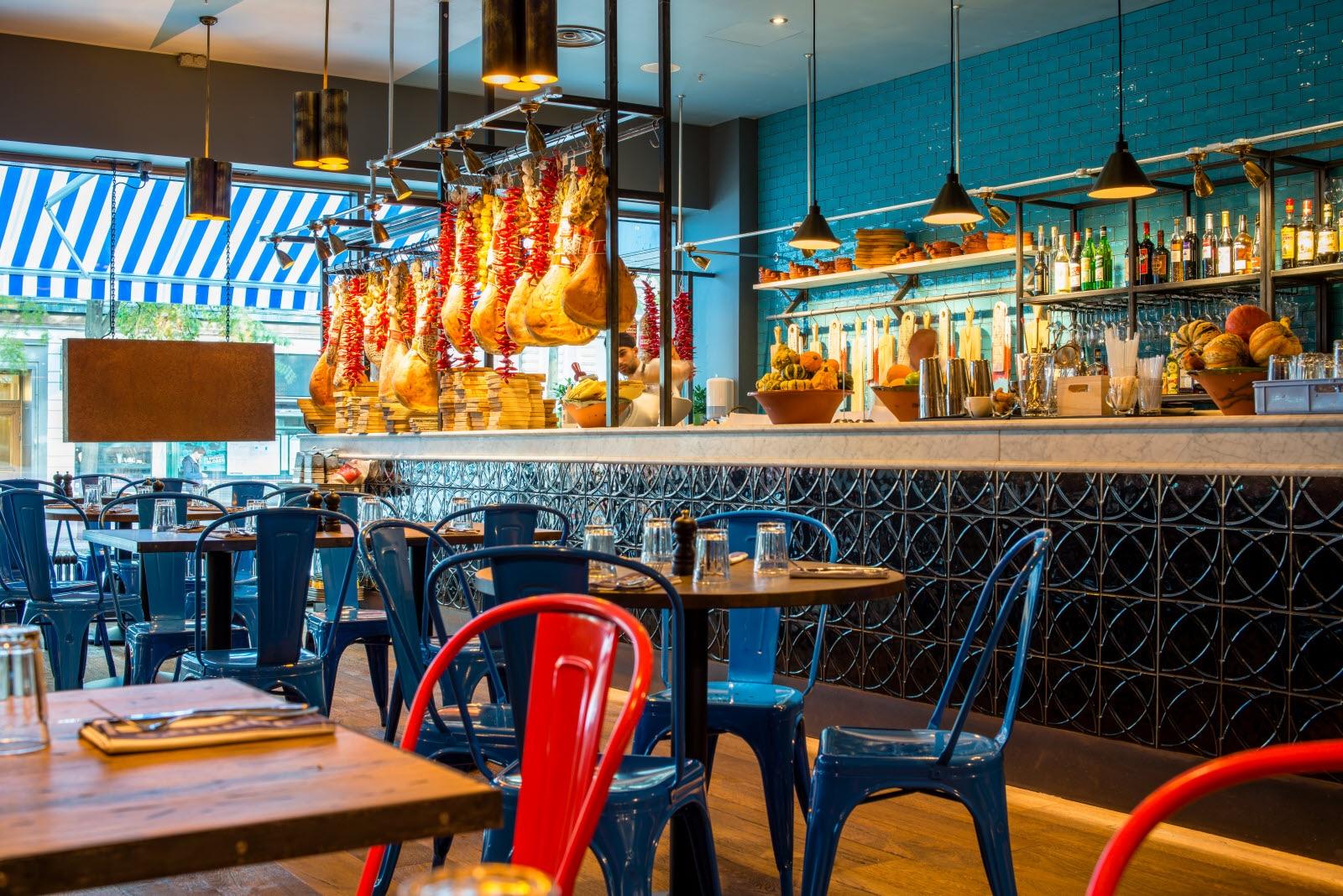 Restaurang bar på scandic anglais i stockholm