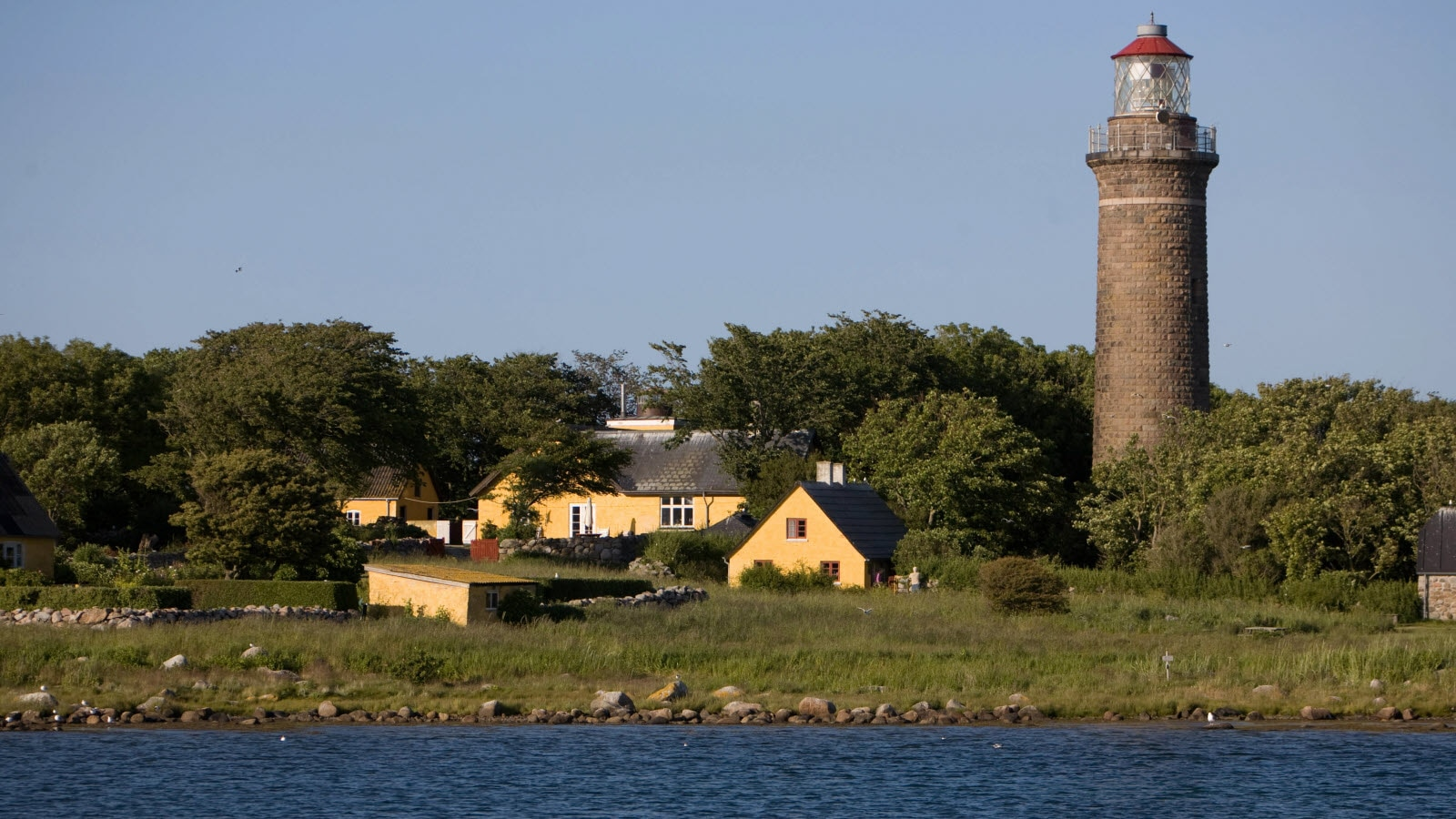 View of the water and lighthouse in Frederikshavn