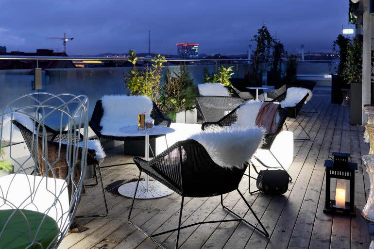 Scandic Rubinen, Roof top bar