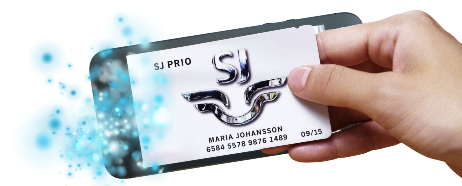 SJ Prio logo in Iphone