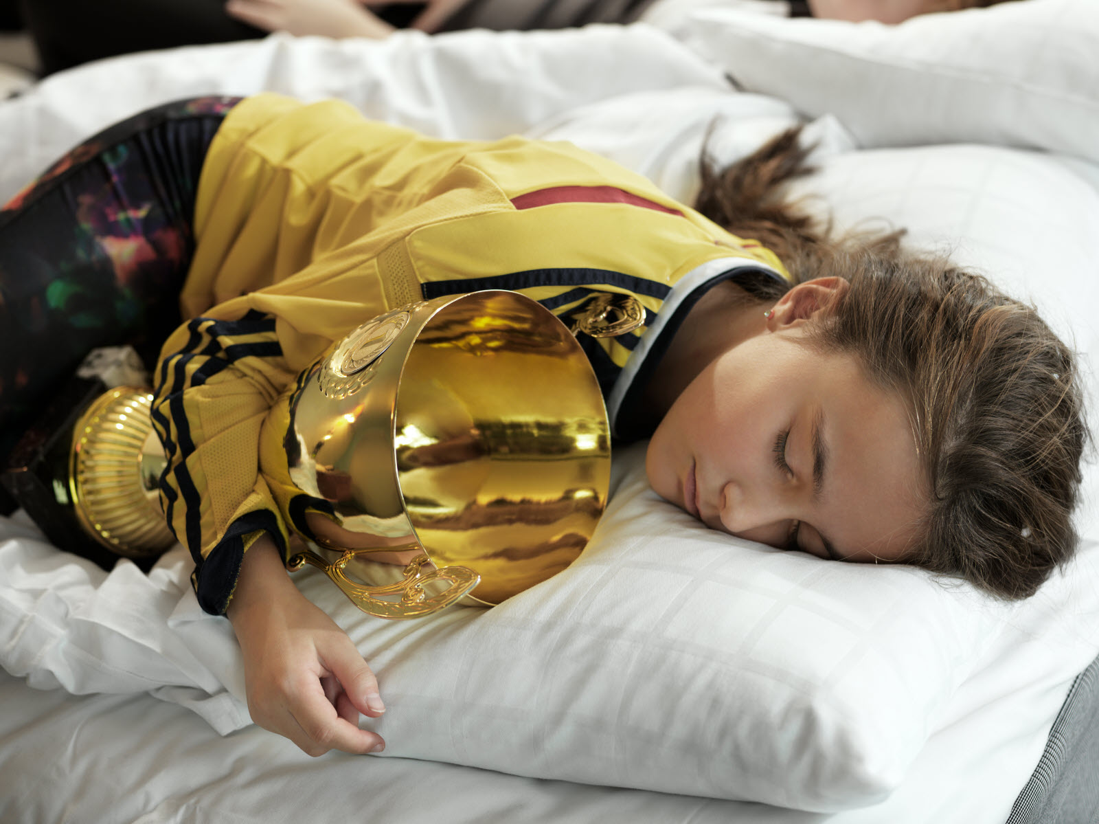 Sleeping girl with cup