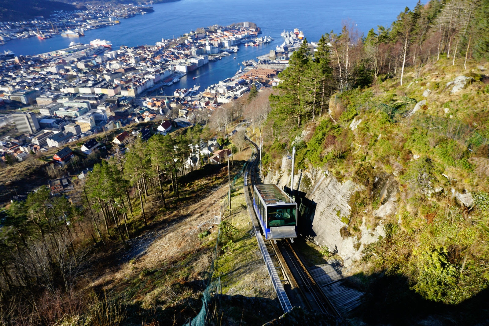 View of Bergen from Mount Floyen, Bergen, Norway,