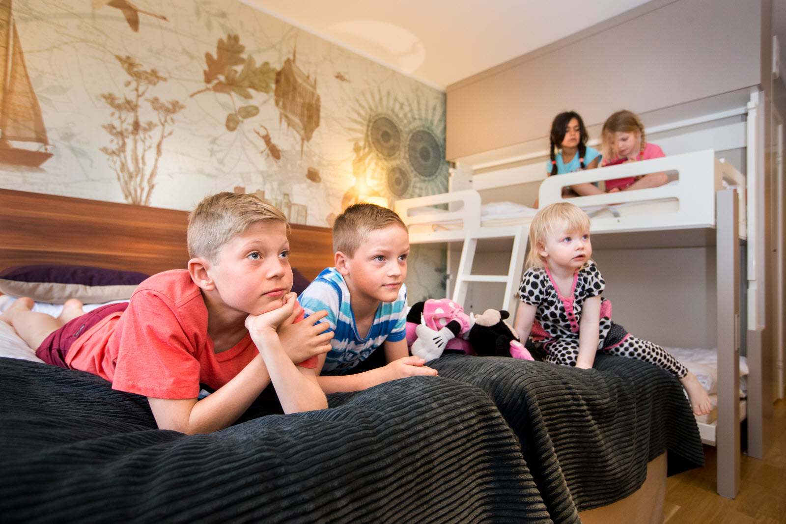 Kids in family room